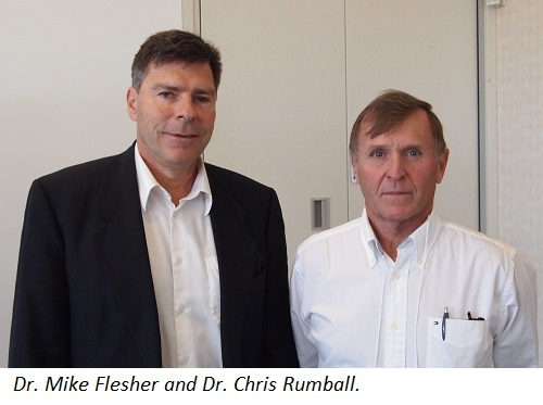 Dr. Mike Flesher and Dr. Chris Rumball