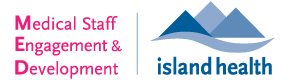 Medical Staff Engagement and Development Island Health logo