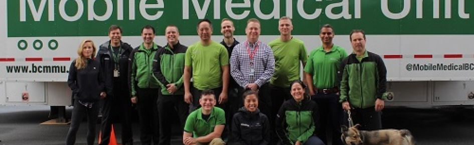 Group photo of the Mobile Medical Unit team