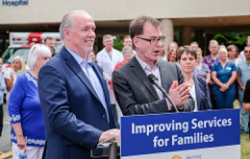 Premier John Horgan and Health Minister Adrian Dix