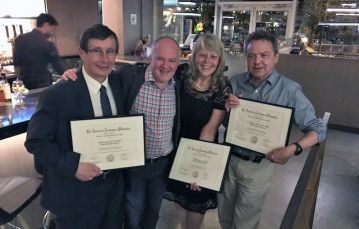 Dr Stanwick, Dr Abelson, Dr Arruda and Dr Metzger with awards